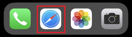 iPhone(iOS)でサファリを開く
